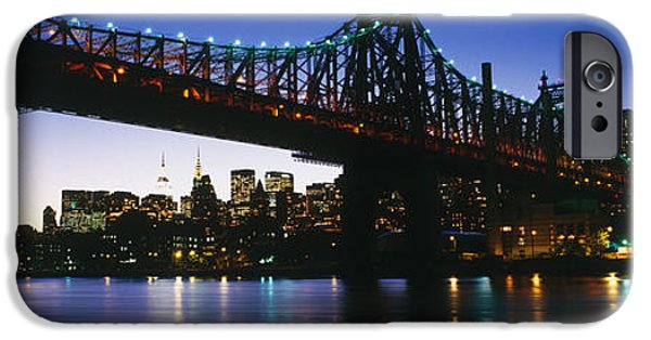 Recently Sold -  - Connection iPhone Cases - Usa, New York City, 59th Street Bridge iPhone Case by Panoramic Images