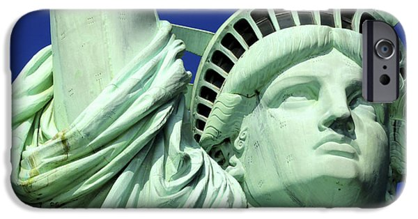 American Independance iPhone Cases - Usa, New York City, Statue Of Liberty © iPhone Case by Tips Images