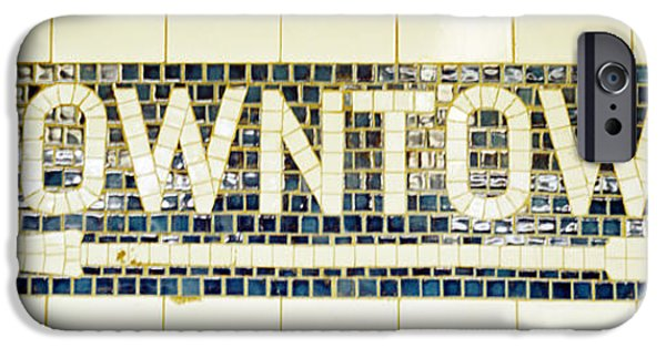 Advice iPhone Cases - Usa, New York City, Subway Sign iPhone Case by Panoramic Images