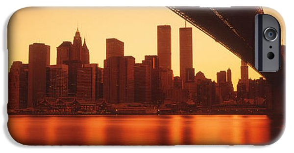 Twin Towers Nyc iPhone Cases - Usa, New York, East River And Brooklyn iPhone Case by Panoramic Images