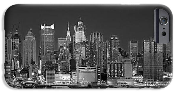 Building Exterior iPhone Cases - Usa, New York, New York City, Panoramic iPhone Case by Panoramic Images