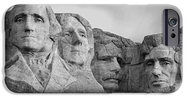 Mount Rushmore iPhone Cases - Usa, South Dakota, Mount Rushmore, Low iPhone Case by Panoramic Images