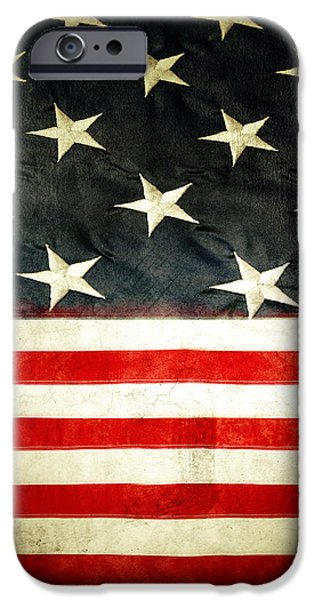 USA stars and stripes iPhone Case by Les Cunliffe