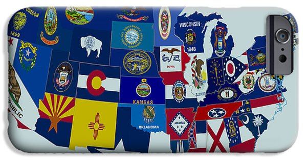 Massachusetts State Flag Digital iPhone Cases - USA State Flags iPhone Case by Brian Reaves