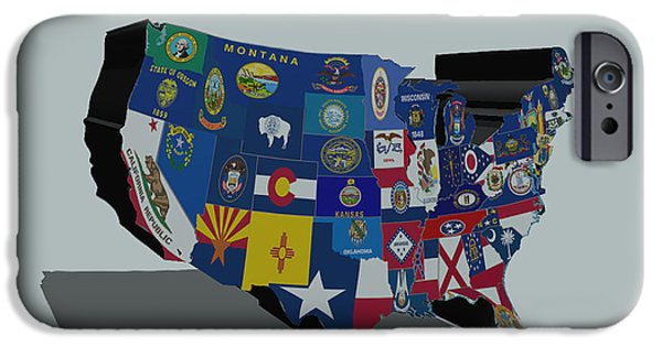 Massachusetts State Flag Digital iPhone Cases - USA States and Flags 5a iPhone Case by Brian Reaves
