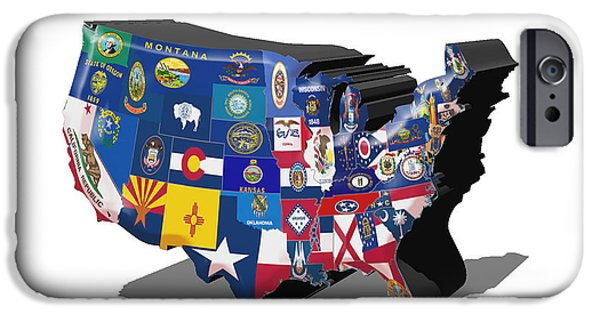 Massachusetts State Flag Digital iPhone Cases - USA States and Flags iPhone Case by Brian Reaves
