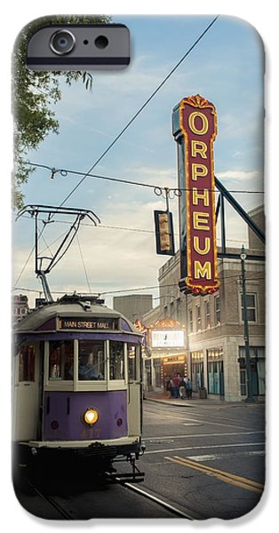 Open Air Theater iPhone Cases - Usa, Tennessee, Vintage Streetcar iPhone Case by Dosfotos