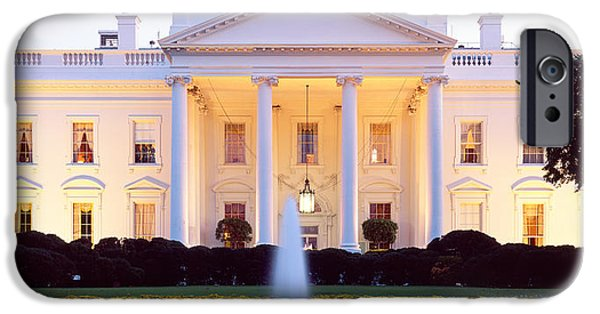 President iPhone Cases - Usa, Washington Dc, White House iPhone Case by Panoramic Images