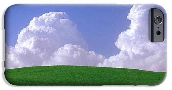 Field. Cloud iPhone Cases - Usa, Washington, Palouse, Wheat iPhone Case by Panoramic Images