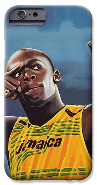 Usain Bolt  iPhone Case by Paul  Meijering
