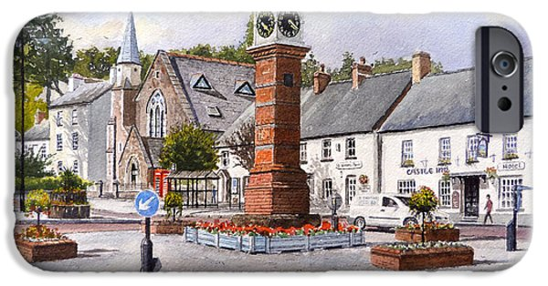 Clock Shop iPhone Cases - Usk in Bloom iPhone Case by Andrew Read