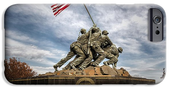 Freedom iPhone Cases - USMC Iwo Jima Memorial iPhone Case by Susan Candelario