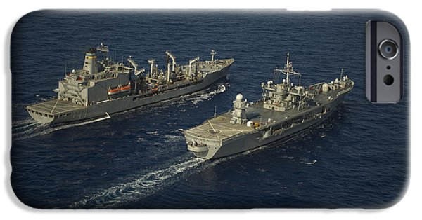At Arrivals iPhone Cases - Usns Leroy Grumman Conducts iPhone Case by Stocktrek Images