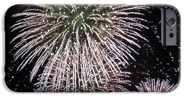 Fireworks iPhone Cases - U.S.Of A  iPhone Case by Susan Ince