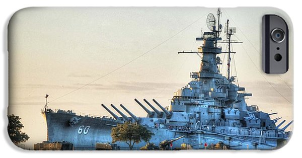 Micdesigns iPhone Cases - USS Alabama iPhone Case by Michael Thomas