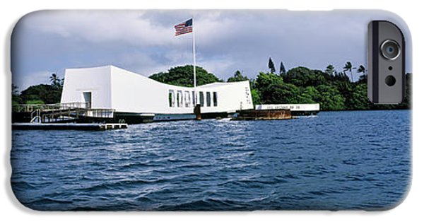 Flag iPhone Cases - Uss Arizona Memorial, Pearl Harbor iPhone Case by Panoramic Images