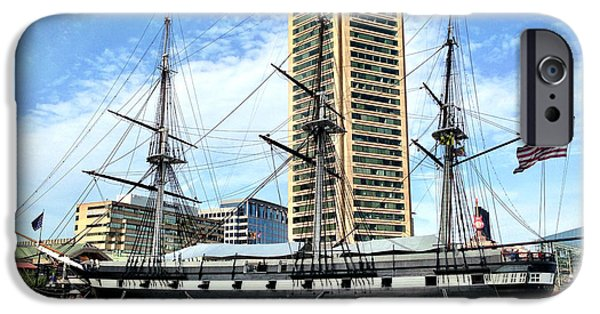 Constellations iPhone Cases - USS Constellation iPhone Case by Chris Montcalmo