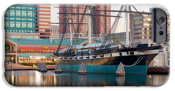 Recently Sold -  - Constellations iPhone Cases - USS Constellation I iPhone Case by Clarence Holmes