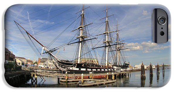 Tall Ship iPhone Cases - USS Constitution 2 iPhone Case by Joann Vitali