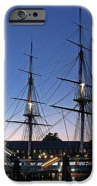 USS Constitution and Bunker Hill Monument iPhone Case by Juergen Roth