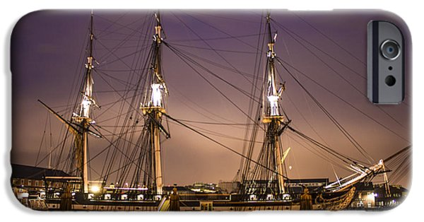 City. Boston iPhone Cases - USS Constitution Boston   iPhone Case by John McGraw