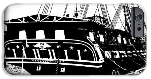 Constitution iPhone Cases - USS Constitution iPhone Case by Charlie and Norma Brock