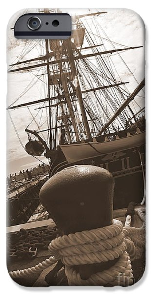 Constitution iPhone Cases - USS Constitution iPhone Case by Catherine Reusch  Daley