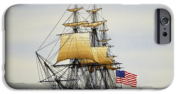 Recently Sold -  - Boston iPhone Cases - Uss Constitution iPhone Case by James Williamson