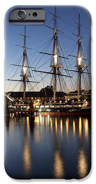 Constitution iPhone Cases - USS Constitution iPhone Case by Juergen Roth
