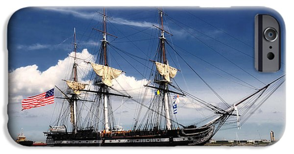 Constitution iPhone Cases - USS Constitution iPhone Case by Mountain Dreams