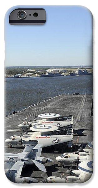 Uss Enterprise Arrives At Naval Station iPhone Case by Stocktrek Images