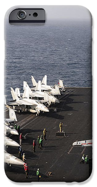 Uss Enterprise Conducts Flight iPhone Case by Stocktrek Images