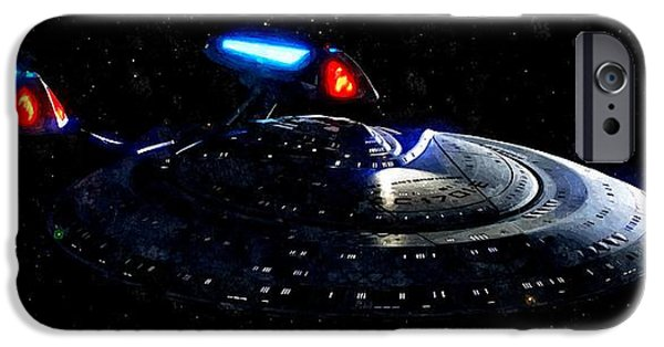 Enterprise Photographs iPhone Cases - USS Enterprise iPhone Case by Florian Rodarte