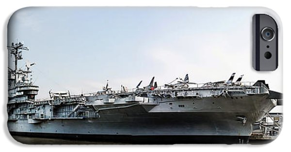 Weapon iPhone Cases - USS Intrepid Sea-Air-Space Museum in New York City.  iPhone Case by Nishanth Gopinathan