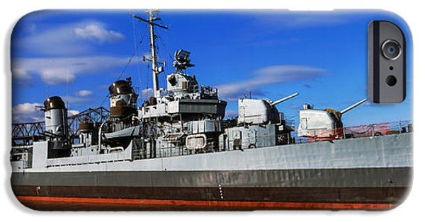 Baton Rouge iPhone Cases - Uss Kidd Navy Ship At A Memorial, Uss iPhone Case by Panoramic Images