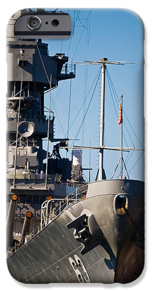 Warship iPhone Cases - Uss Missouri, Pearl Harbor, Honolulu iPhone Case by Panoramic Images