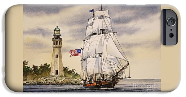 Tall Ship iPhone Cases - Uss Niagara iPhone Case by James Williamson