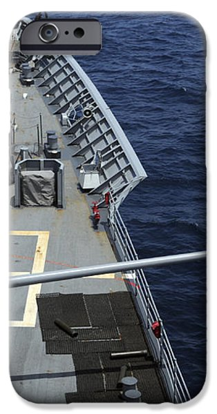 Uss Philippine Sea Fires Its Mk 45 iPhone Case by Stocktrek Images