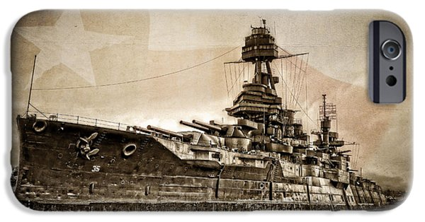 Wwi iPhone Cases - U.S.S. Texas iPhone Case by Ken Smith
