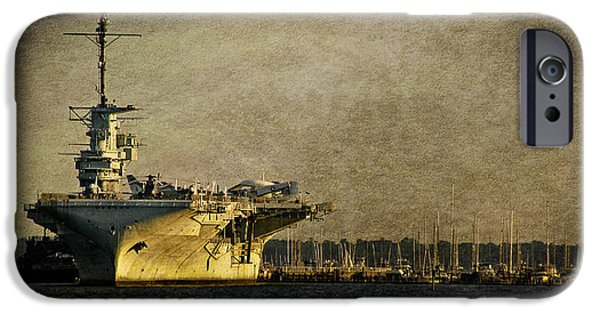 Yorktown iPhone Cases - USS Yorktown CV10 iPhone Case by E Karl Braun
