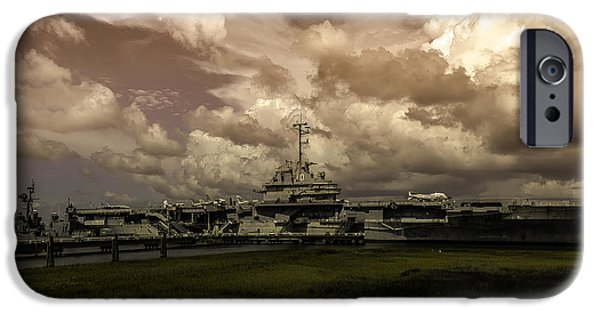 Yorktown iPhone Cases - USS Yorktown iPhone Case by Kevin Senter