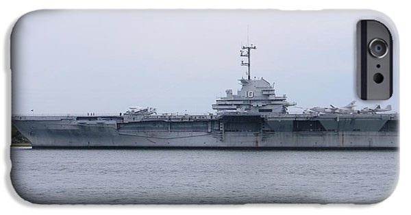 Yorktown iPhone Cases - USS Yorktown iPhone Case by Warren Thompson