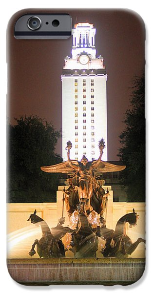 Recently Sold -  - Night Angel iPhone Cases - UT tower and fountain iPhone Case by Valerie Loop