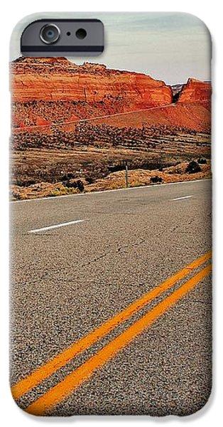 Utah Highway iPhone Case by Benjamin Yeager