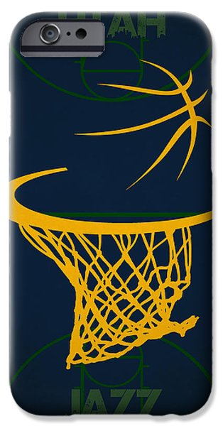 Utah Jazz iPhone Cases - Utah Jazz Court iPhone Case by Joe Hamilton