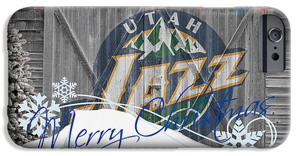 Utah Jazz iPhone Cases - Utah Jazz iPhone Case by Joe Hamilton