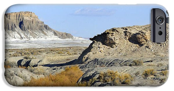 Surreal Landscape Digital iPhone Cases - Utah Outback 42 Panoramic iPhone Case by Mike McGlothlen