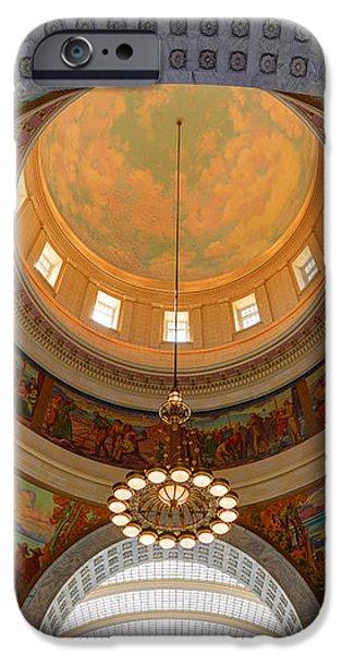 Utah State Capitol Rotunda Interior Archways iPhone Case by Gary Whitton