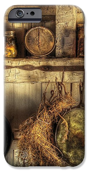 Utensils - Old country kitchen iPhone Case by Mike Savad
