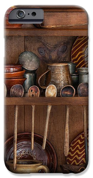 Utensils - What I found in a cabinet iPhone Case by Mike Savad